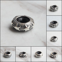 Emith Fla Authentic 925 Sterling Silver Stopper Spacer Bead Charms Women Original Charms Fit European Bracelets DIY Jewelry