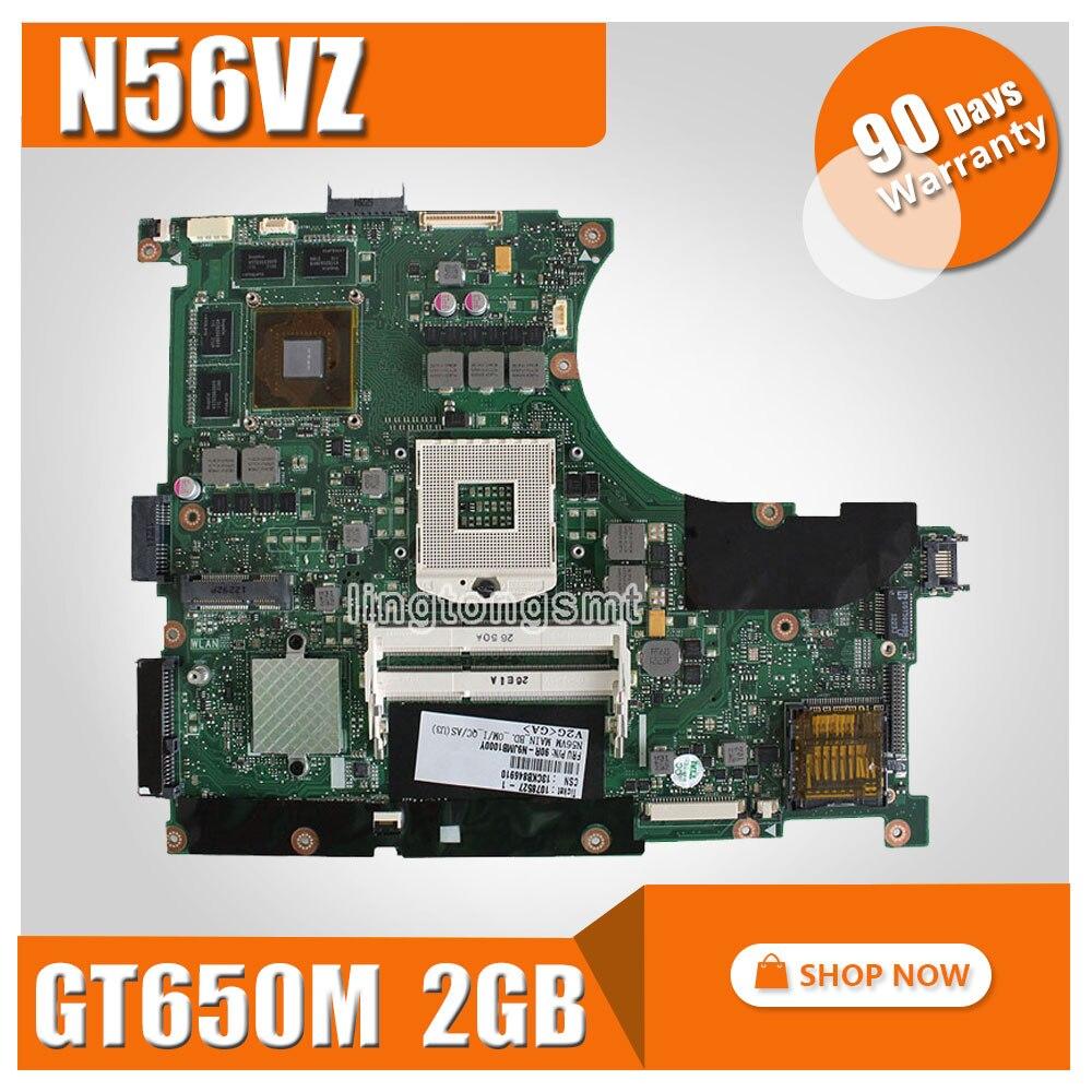 For ASUS N56VZ laptop Motherboard fit N56VM N56VJ N56VZ N56VB mainboard N56VM REV2.3 GT650 2G DDR3 PGA 989 100% Tested n56vm rev 2 3 laptop motherboard suitable for asus n56vm n56vj n56vz gt630m hm76 system motherboard original new
