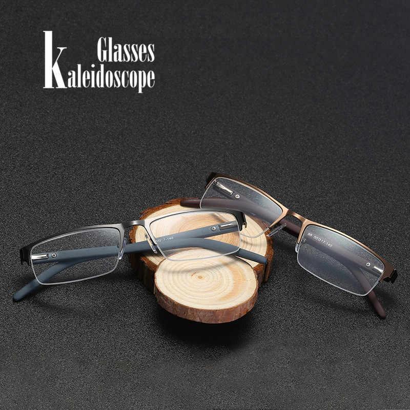 99714fdbbf ... Kaleidoscope Glasses Reading Glasses Men Women Elderly Metal Half Frame  Hyperopia Eyeglasses With Prescription Read Eyewears