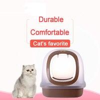 Пластик кошка туалет Pet Крытый горшок лоток Pet чистый продукт Портативный котенок Туалет Обучение камас Para Gato кошки продукты 90Z2090
