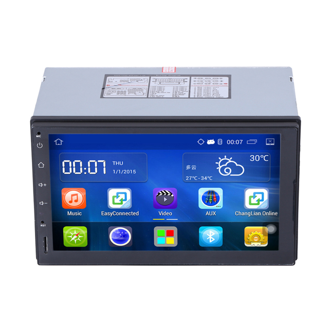 2 Din Android 4.4 Car DVD player GPS WIFI OBD2 Google Map+Steering Wheel Control 1.6G Quad Core Bluetooth CarRadio Stereo Player