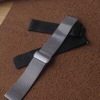 18mm 20mm 21mm 22mm 24mm Universal Milanese Watchband Quick Release Watch Band Mesh Stainless Steel Strap Wrist Belt Bracelet