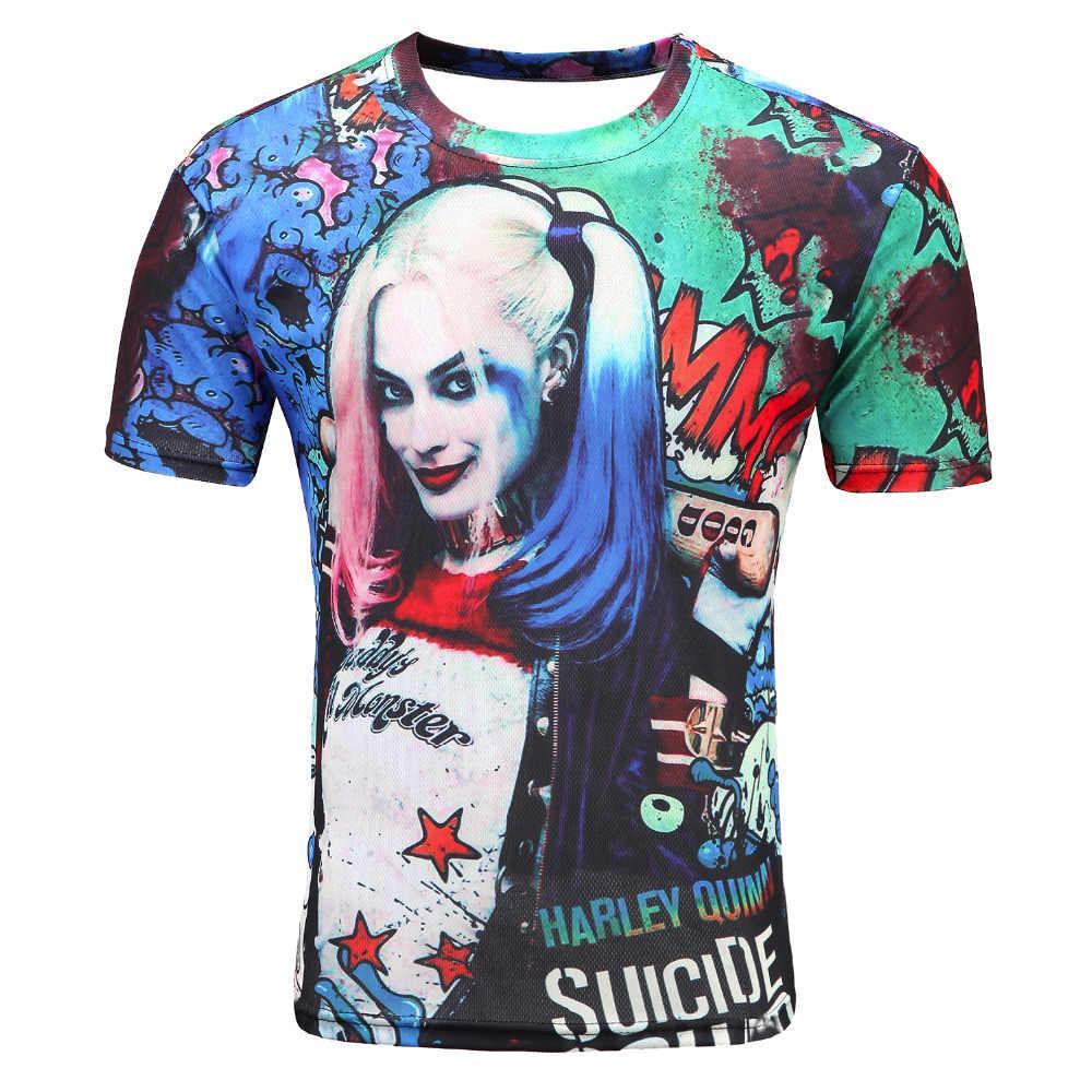 2017 отряд самоубийц Мужская 3d футболка Харли Квинн, Джокер Дэдшот Футболка мужская Рик флаг мужские рубашки Boomerang, отряд самоубийц