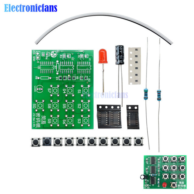 1 Set Multi Functional Coded Lock Suite Simple Electronic Circuit ...
