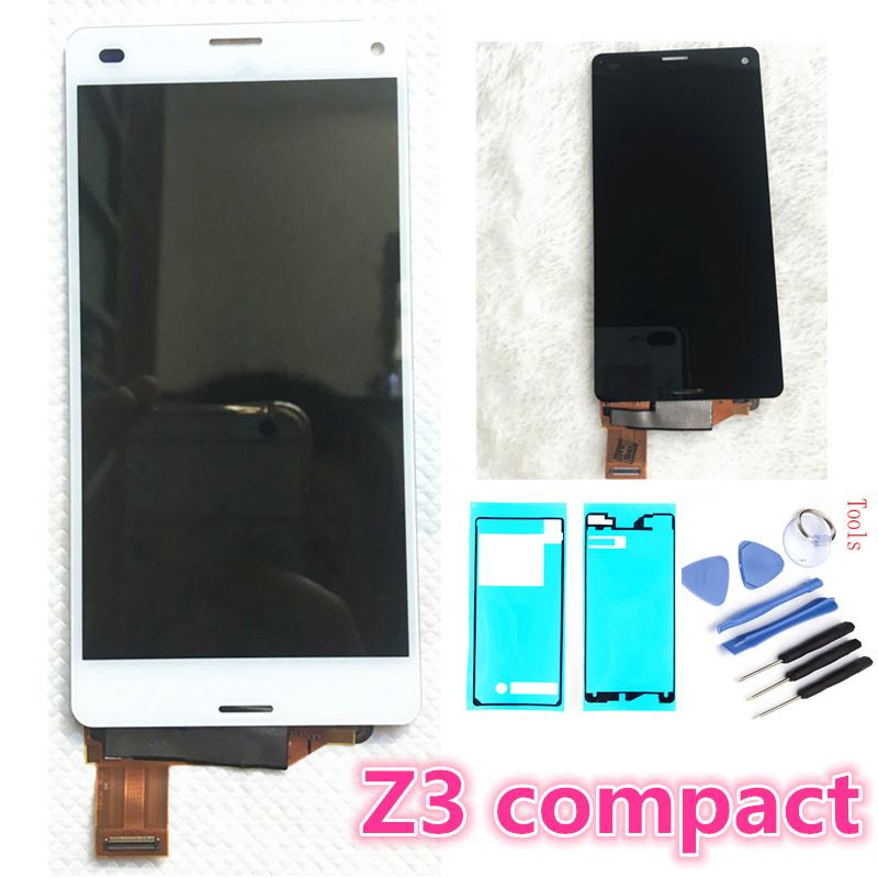4.6 inch For Sony Xperia Z3 Compact LCD Touch Display D5803 D5833 Digitizer for Sony z3 mini m55w z3c z3 Screen Replacement+glue4.6 inch For Sony Xperia Z3 Compact LCD Touch Display D5803 D5833 Digitizer for Sony z3 mini m55w z3c z3 Screen Replacement+glue