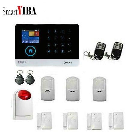 Système d'alarme sans fil de sirène de cambrioleur de sécurité d'entrée de fenêtre/porte de SmartYIBA avec le capteur de mouvement de PIR pour des Kits de sécurité à la maison intelligents