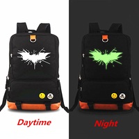 Luminous Backpacks Laptop bag Mochila Batman Spiderman flash Green Lantern Backpacks Teenagers Student School Bag Travel Bags