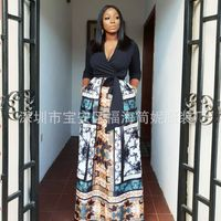 2019 african women dress long printed maxi robes africaine africa lady clothes print dashiki dresses