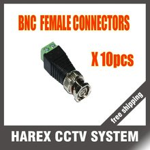 10 x Coax CAT5 To CCTV BNC Video Balun Jack Connector free shipping !!
