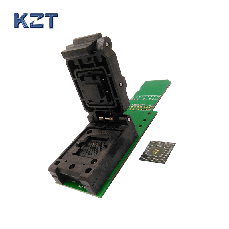 eMCP529 / BGA529 reader test socket with SD interface  BGA529 size 15*15mm for SAMSUNG Note4 Flash data recovery socket socket test socket flash - title=