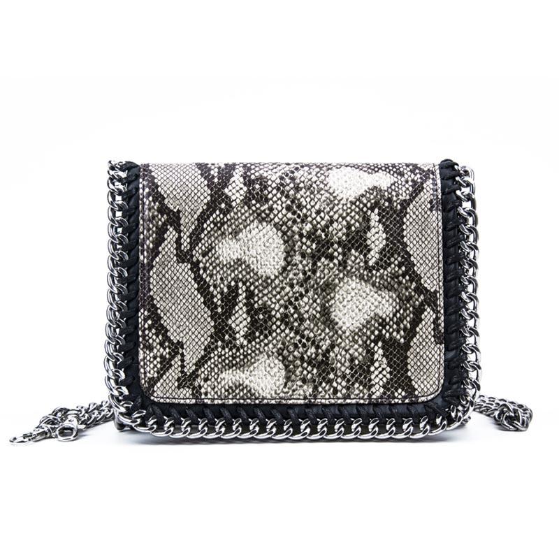 Handbag Snake Skin Bag for Women High capacity Genuine Leather Messenger Bags Solid Vintage Women's Handbags