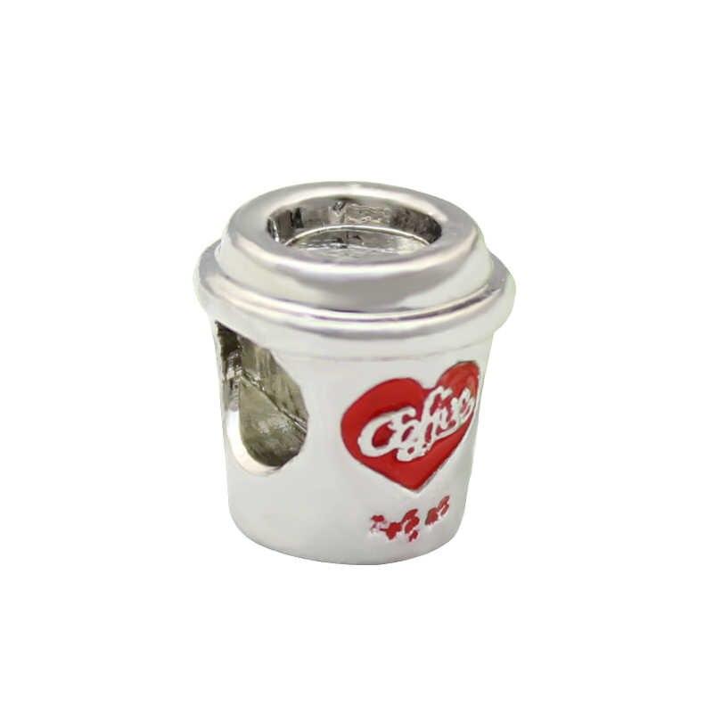 משלוח חינם קפה כוס קפה מאהב קסם חרוז fit פנדורה צמיד
