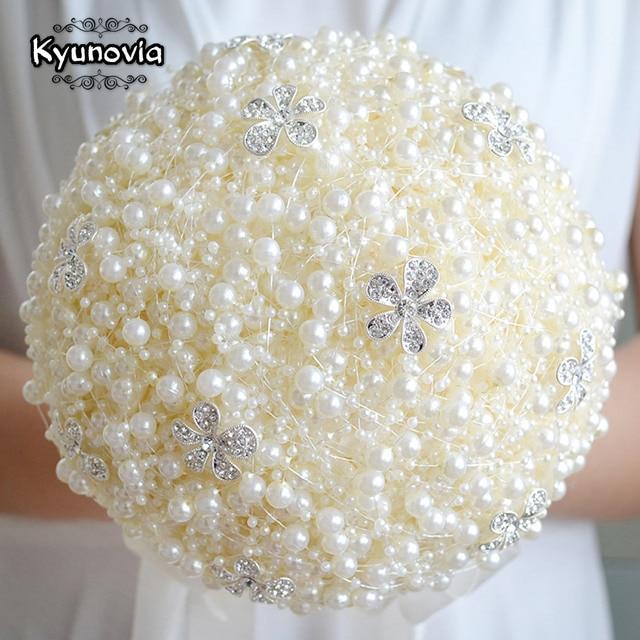 Kyunovia Luxurious Pearls Brooch Unique Weddings Bridal Bouquet ...