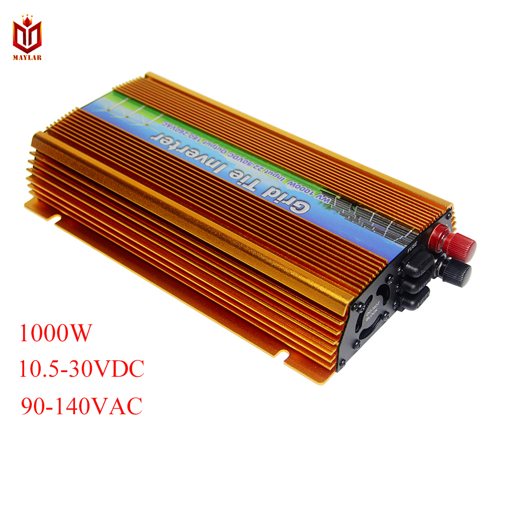 10.5-30VDC 1000W Solar Grid Tie Inverter with MPPT PV on Grid Inverter, Output 90-140V.50hz/60hz, For Home PV Power System зарядное устройство energizer hightech 2 usb 2 4a euro 220v кабель usb