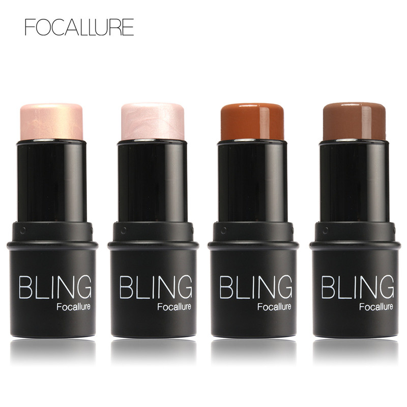 Bling Highlighter Stick Toate peste Shimmer Whitening Concealer Brighten Bronzer Rezistent la apa Machiaj Highlighter Face maquiagem