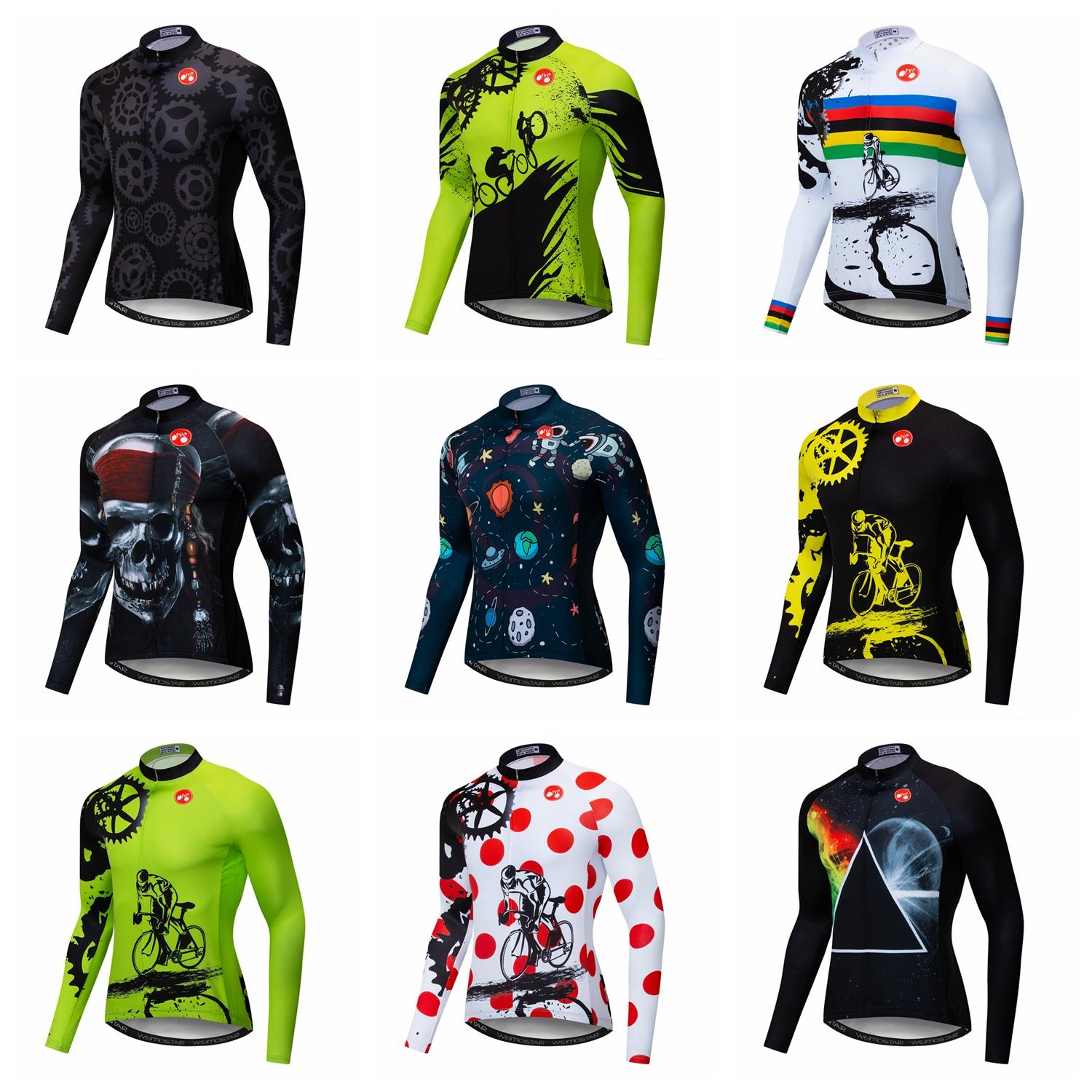 c32d03e99 Aliexpress.com   Buy Weimostar Cycling Jersey Men Winter Autumn Spring  Bicycle Clothing Shirts Long Sleeve Ropa ciclismo MTB Bike Jersey Jackets  from ...