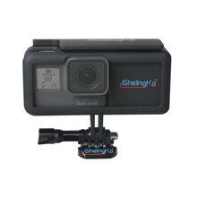 Side externe batterij mobiele stroomvoorziening met frame bescherming behuizing voor GoPro Hero5/6/7 zwart Type  C camera accessoires