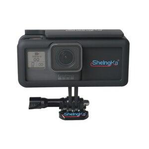 Image 1 - צד נייד חיצוני אספקת חשמל עם הגנת מסגרת שיכון לgopro Hero5/6/7 שחור סוג  C מצלמה אבזרים