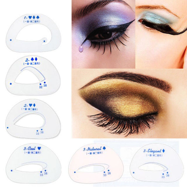 PCS Eyebrow Grooming Stencils Kit Template Eyeshadow Models Makeup - Eyeshadow template