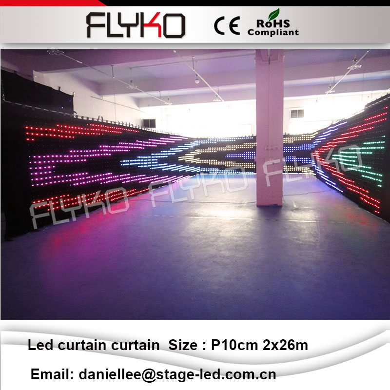 US $5129 0  P10cm 2x26m rental flexible video led curtains for stage  backdrops led video cloth firm video-in Stage Lighting Effect from Lights &
