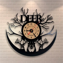 1piece Creative Design Vinyl Record Clock Frameless CD Wall Clock  For Gift Home Decoration