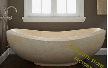 ... White Marble Golden Beige Bathtub Stone ...