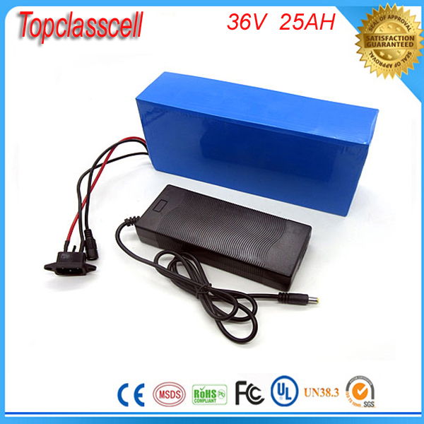 electric bicycle battery 36v 25ah  1000w  e-Bike Lithium battery pack for 36V 500W 1000w Bafang  motor with BMS and Charger free customs taxes customized 72v 40ah lithium battery pack for e bike electric scooters ev e bikes with charger and 50a bms