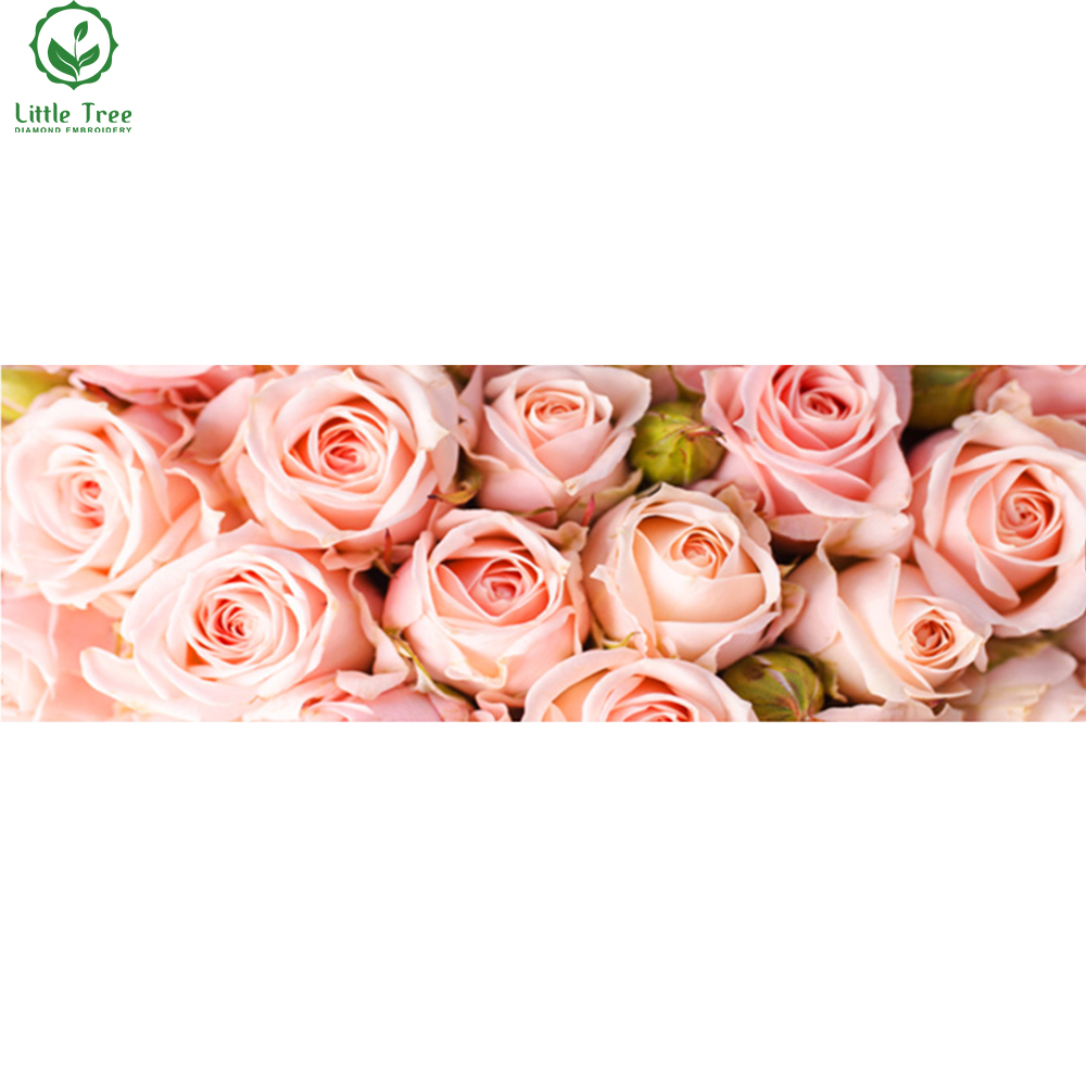 5d diy diamond embroidery pastel pinky roses textile crystal handicraft full rhinestone painting house wall decor cross stitch
