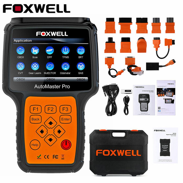 FOXWELL NT644 Pro All System OBD OBD2 Car Diagnostic Tool Automotive Scanner ABS SRS Transmission Oil Reset DPF EPB OBD2 Scanner