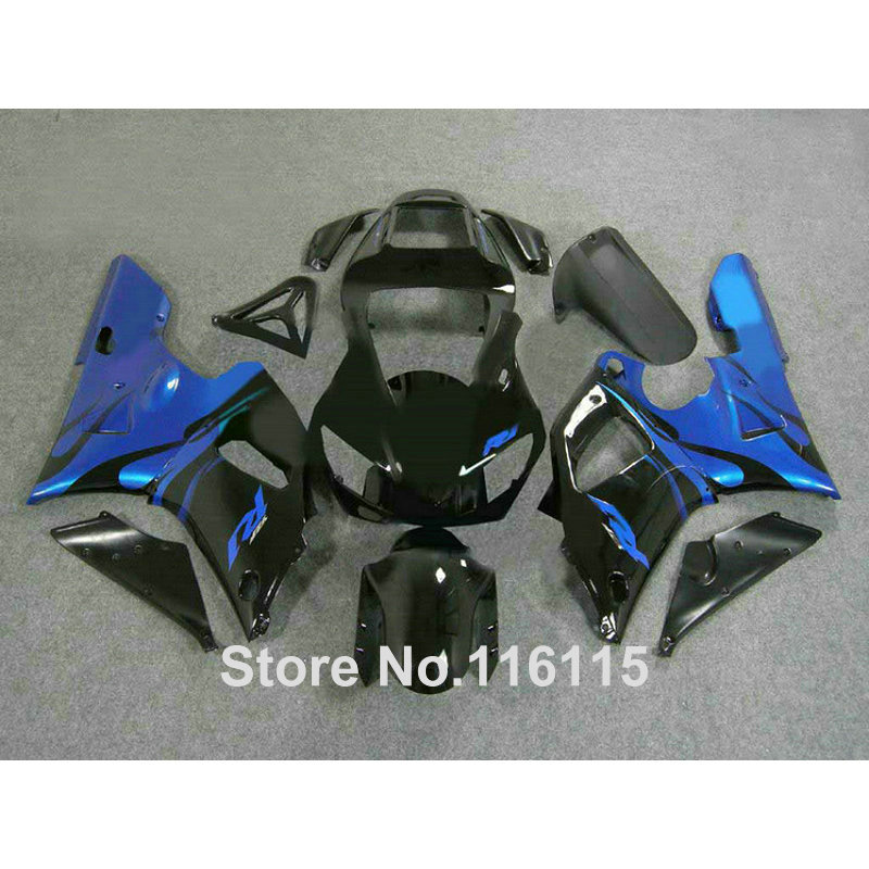 Full injection ABS fairing kit for YAMAHA R1 1998 1999 YZF-R1 YZF R1 98 99 black blue bodywork fairings set 2420