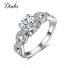 Fashion Wedding Rings For Women 585 White Gold Color Intertwined Fate Love Jewelry Ring Vintage Bague