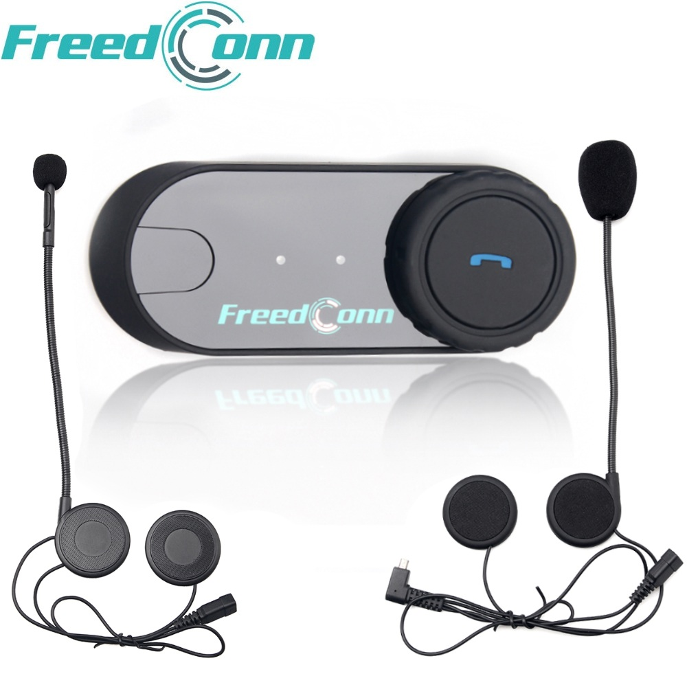 цена FreedConn Motorcycle Helmet Interphone Waterproof Bluetooth Helmet Headset for Rider and Passenger Pillion Intercom