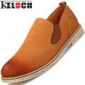 Keloch Мужская Мода Замшевые Туфли Кожаные Ботинки Мужчины Мокасины Оксфорд Обувь Для Мужчин Квартиры Мужчины Повседневная Обувь Мокасины Sapato Masculino
