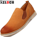 Keloch Fashion Men Shoes Suede Leather Shoes Men Moccasin Oxford Shoes For Men Flats Male Casual Shoes Loafers Sapato Masculino