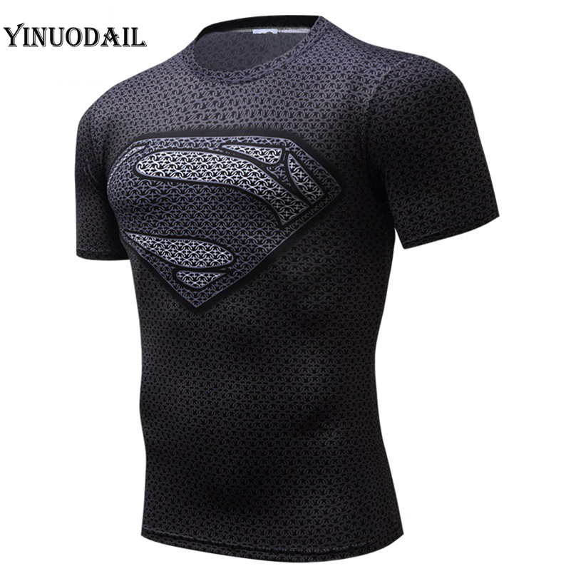 New 2019 Mens Fitness   T     shirt   Spiderman Superman Captain America Winter Soldier Marvel   T     Shirt   Avengers Costume Superhero Mens
