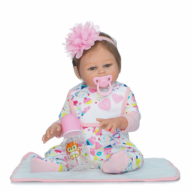 Full Body Silicone Reborn Baby Doll Toys 50cm Newborn Girl B abies Dolls Brithday Gift Present Child Brinquedos Bathe toy baby girl arianna on board novelty car sign gift present for new child newborn baby page 4 page 7