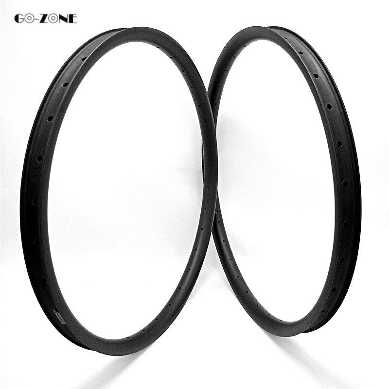 Perfect Go-zone 27.5 er mountain bike rim 37x24mm XC/AM tubeless matte/glossy 650B mtb dics brake carbon rim 24H 28H 32H 36H 1