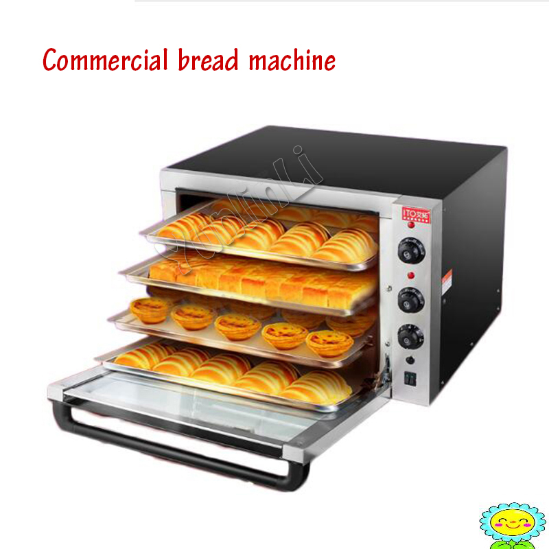 Commercial Electric Baking Machine With 4 Layers Cake/Bread/ Pizza Oven Stainless Steel Egg Tart Baking Oven ITO-EC01C 3000w stainless steel commercial electric pizza oven with timer 2 layer making bread pizza cake baking oven