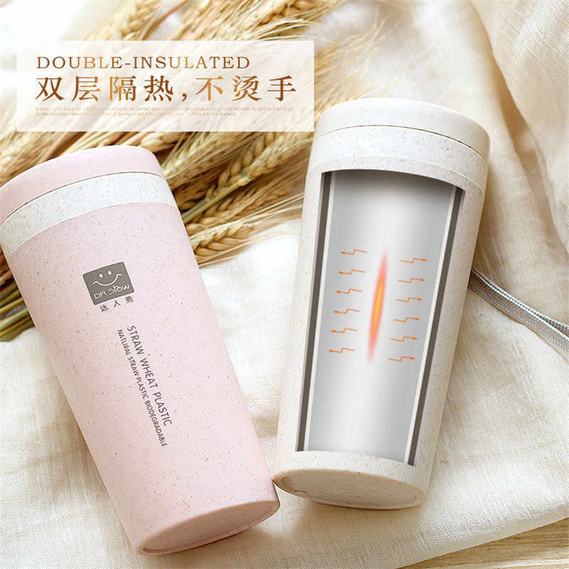 300ML Thermos Vacuum Double Insulated Cup Travel Outdoor School Coffee Flask Bottle Mug Beautiful Multicolor Water Cup Thermos