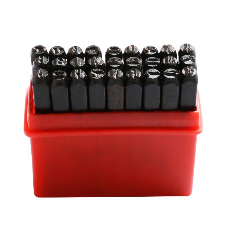 Купить с кэшбэком 27pcs/set Letter & Steel Stamp Die Punch Tool Set Metal Case Jewelry Making Tools