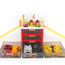New  Mini Parking Lot Car Toy Multi-functional Drawer Kids Toys Storage Box Case Boys Novelty Gifts Children Party Games 2017 new clasic military toy model parking lot toys car storage submarine animals play house kids toy submarine storage car