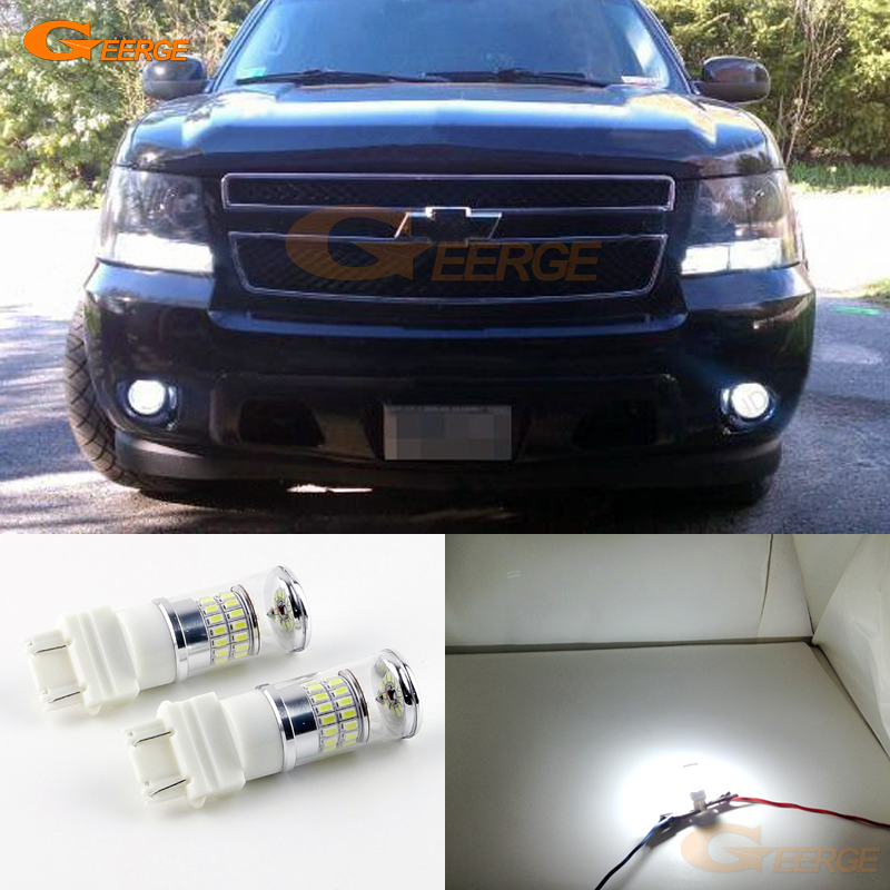 For Chevrolet Avalanche 2010 2011 Daytime Lights Excellent Ultra bright White Reflector 3157 LED Bulbs Daytime DRL light ijdm hid white 15 smd 3535 powered 3157 t25 led bulbs for daytime running lights drl for 2011 and up jeep grand cherokee 6000k