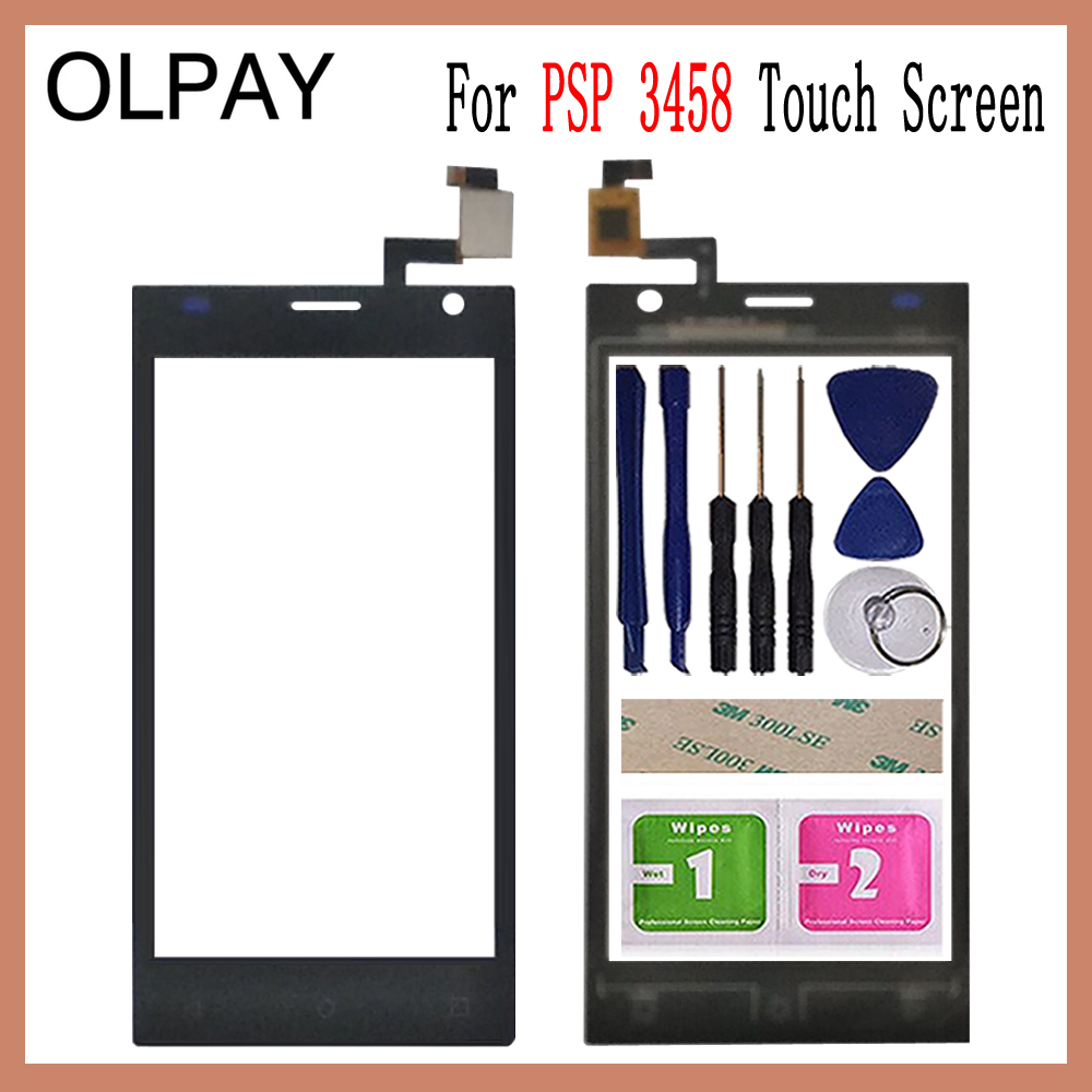 OLPAY 4.5'' Mobile Touch Glass For <font><b>Prestigio</b></font> Wize O3 PSP3458 PSP <font><b>3458</b></font> DUO Touch Screen Glass Digitizer Panel Sensor Tools image