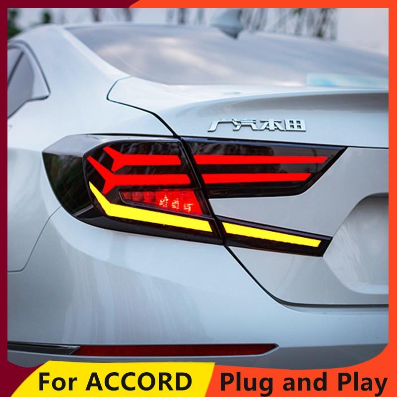 CAR for Honda Accord Tail Lights 2018 New Accord 10th LED Tail Light LED Rear Lamp