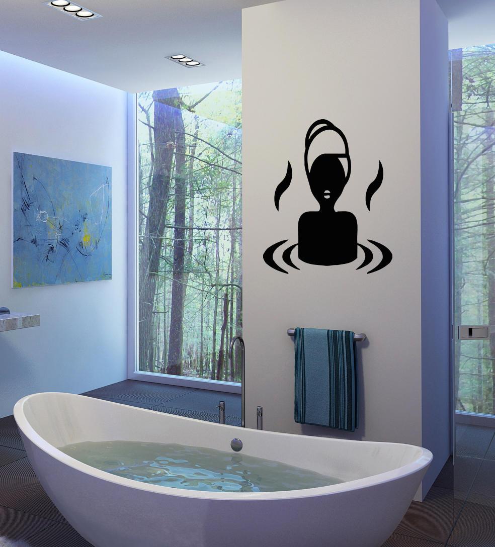Salon De Bain Moderne €5.79 30% de réduction|autocollant mural de salle de bains relax vinyle  autocollant mural spa design amovible filles salon de beauté autocollant  mural