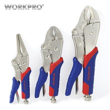 Free Shipping WORKPRO 3PC Locking Pliers Set(10 Inch Curved Jaw, 7 6-1/2 Straight Jaw)