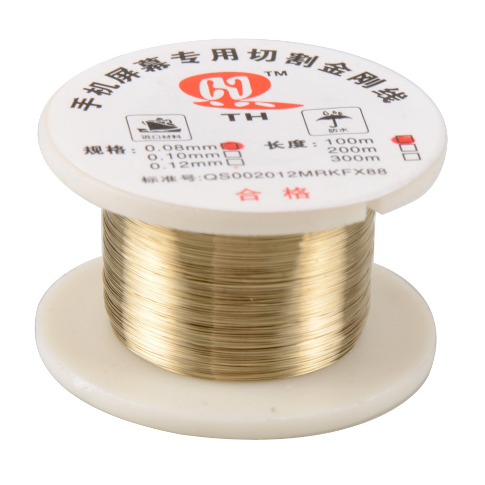 100m/roll 0.08mm Alloy Molybdenum Cutting Wire Line LCD Display Screen Separator Repair For Smart Phone