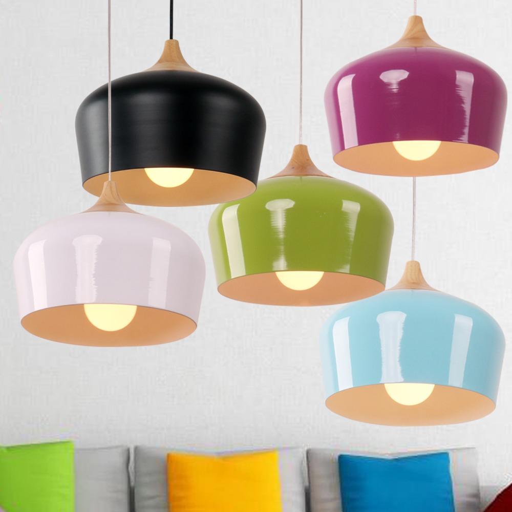 hanglamp cocina moderna luz colgante de madera iluminacin multicolor opcional mmmm lmpara de techo