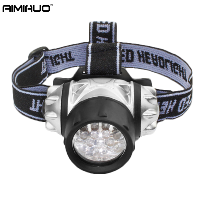 цена AIMIHUO 14 LED Headlamp Outdoor Camping Headlight Powerful Fishing Flashlight Head Night Riding LED Head Lamp For AAA Battery