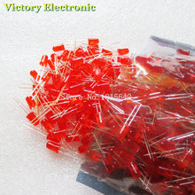 200PCS/Lot 5MM Red LED Diode Round Diffused Red Color Light Lamp F5 DIP Highlight New Wholesale Electronic